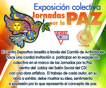 Convocatoria Exposición colectiva Jornadas por la paz