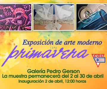 Exposición de arte moderno Primavera