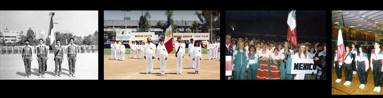 Remembranzas de los Juegos Macabeos Panamericanos, Escoltas de la Delegación Mexicana