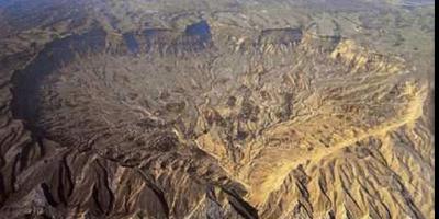 El cráter en forma de corazón de Israel